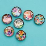 Crafting With Kids  – Recyclable Bottle Cap Magnets Craft Project