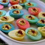 colored easteer deviled eggs