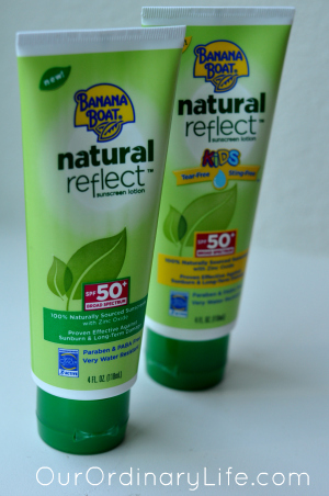•	Banana Boat® Sunscreen Natural Reflect