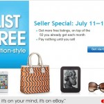 List Items FREE on eBay July 11–17 ONLY!