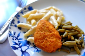 Four Cheese Penne with Prosciutto and healthy choice Oven Baked Chicken Breast