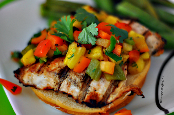 grilled pineapple salsa burgers