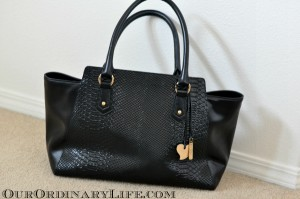 cuore and pelle musette carryall tote black