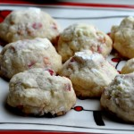 Powdered Peppermint Shortbread Christmas Cookies