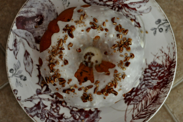 Holiday Recipes - Sweet Potato Bundt Cake With Walnuts and Maple Glaze Icing