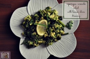 Asparagus Avocado Salad With A Lemon & Chive Dressing Recipe