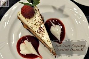 Sour Cream Raspberry Chambord Cheesecake
