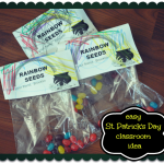 Easy St. Patrick's Day Classroom Treat Idea – Rainbow Seeds