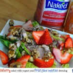 Strawberry Salad With Yogurt and Naked Fruit Juice Smoothie Dressing
