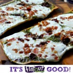 Pancetta, Prosciutto, Sundried Tomato & Pesto Grilled Flatbread Pizza  #FlatoutGood