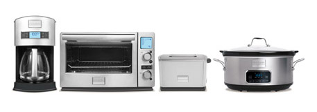 Frigidaire line appliances cofee, toaster oven, slow cooker, toaster