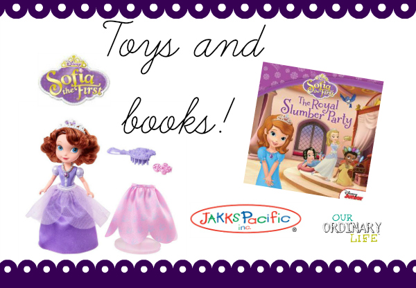 sofia the first toys and books