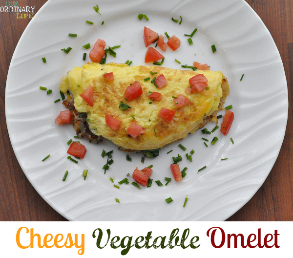 cheesy vegetable omelet