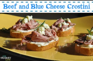 Beef and Blue Cheese Crostini