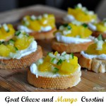 Goat Cheese and Mango Crostini Recipe – #MerryMango Twitter Party!