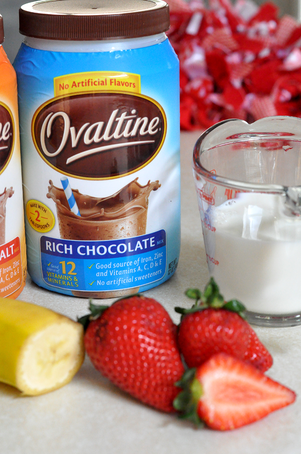 Ovaltine Chocolate Strawberry Banana SHake (1)