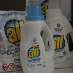 New all® Free Clear Liquid Fabric Softener and Dryer Sheets