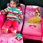 Mia & Brooklin's New Disney Princess 3 Piece Sofa & Ottoman