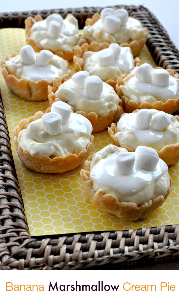 Kraft Banana Cream Pie Tarts With Mini Marshmallow Topping (6)1