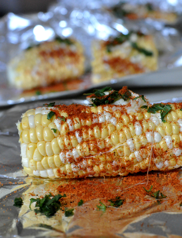 spicy roasted corn