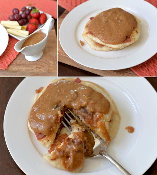 Peanut Butter Maple Syrup Bacon Pancakes (6)