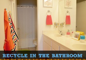 recycle in the bathroom