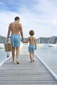 tom teddy matching father son beach shorts