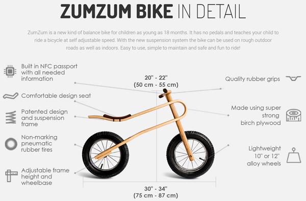 Bike Parts For A Kids Bike Zum Zum Wooden Balance Bikes