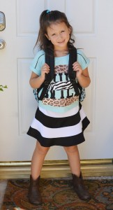 Kmart back to school kids clothes zebra outfit skirt