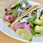Dinner Made Easy – Spiced Queso & Pickled Red Onion Vegetarian Tacos