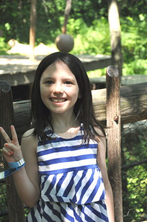 My 5 year old, 2 days before turning 6 The Cincinnati Zoo & Botanical Garden