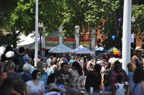 The Famous Portland, Oregon Saturday Market In Downtown
