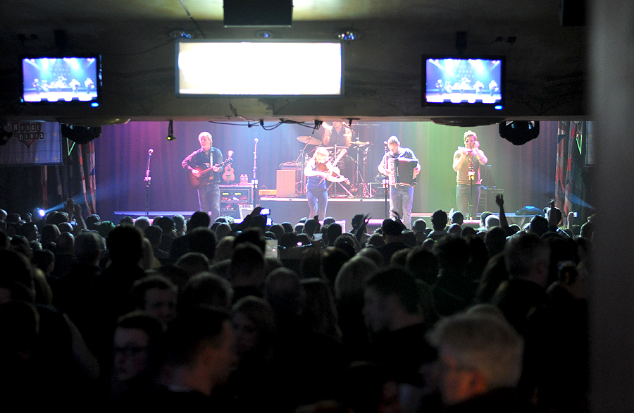 House of Blues Lower Level Live Music Gaelic Storm view of stage from rear