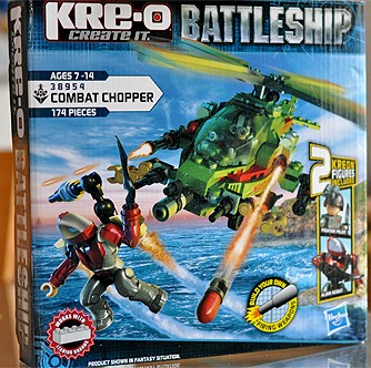 Kreo Battleship Chopper Set - Real Rotor Movement & Missiles Firing