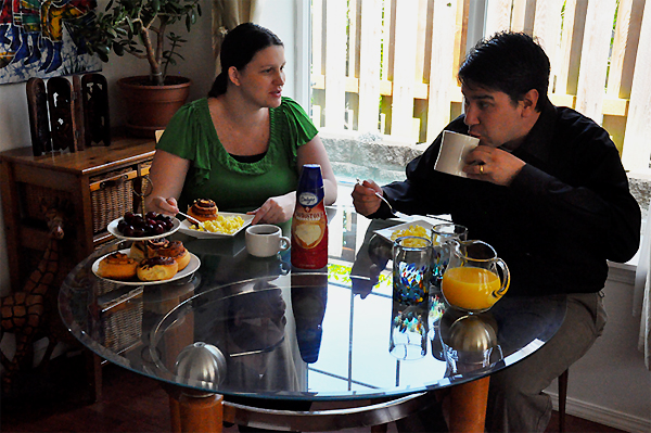 breakfast with my husband