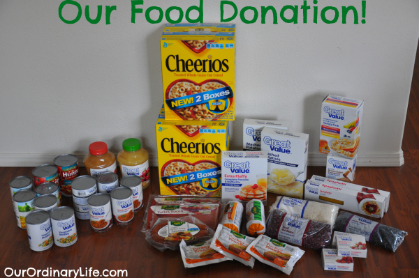 our ordinary life food donation