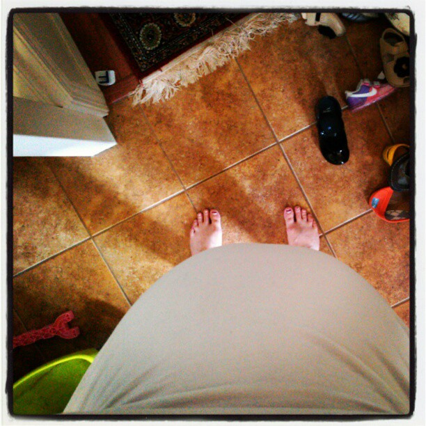 pregnant mia 36 weeks belly view from above