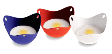 poach pods eggs blue red white