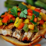 Kings Hawaiian Grilled Chicken Burgers With Grilled Pineapple Salsa A Family Tailgate Recipe