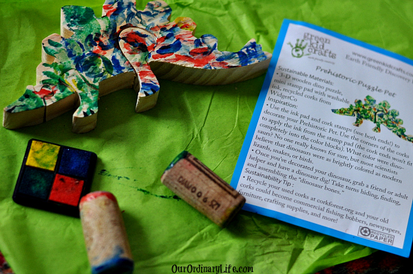 Green Kids Crafts Monthly Craft Subscription Service dinosaur pet
