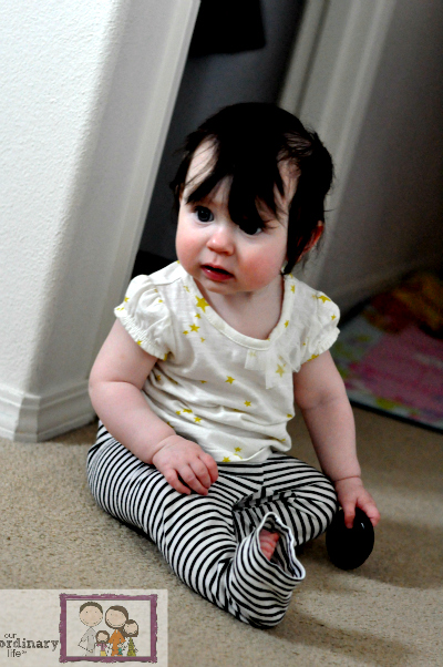 mia 7 months old sitting up