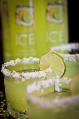 3 oz Lemon Lime Sparkling ICE  1 ½ oz Tequila  Splash of fresh squeezed orange  Fresh squeezed lime     Directions: Shake and pour into a chilled rocks glass rimmed in salt. Garnish with a lime slice.     Calories per 6 oz serving: 100