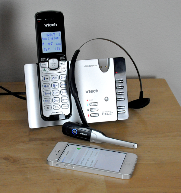 Cell phone hook up to landline