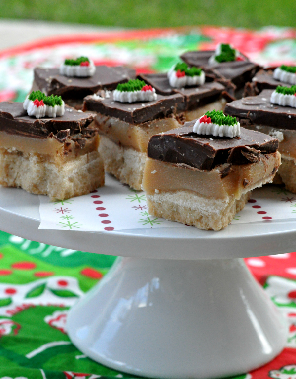 shortbread toffee bars