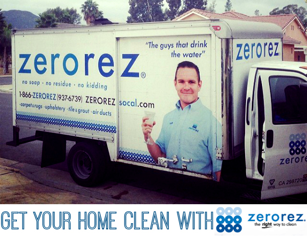 zerorez truck at our house orange county
