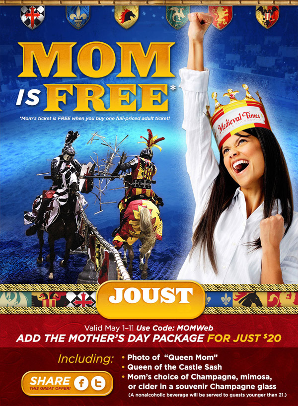 Medieval Times Buena Park Mothers Day Special 2014