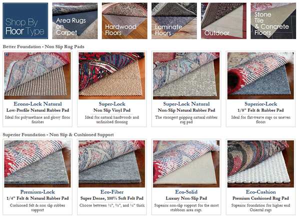 carpet rug pads tile stone laminate hardwood