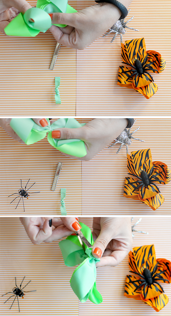 make a halloween hair bow