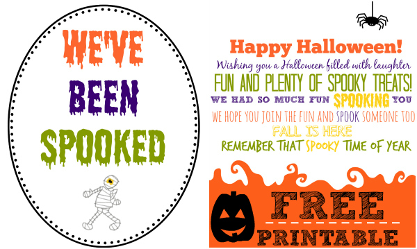 spooked halloween printables