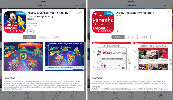 Disney Imagicademy Parents mickeys magical math world app
